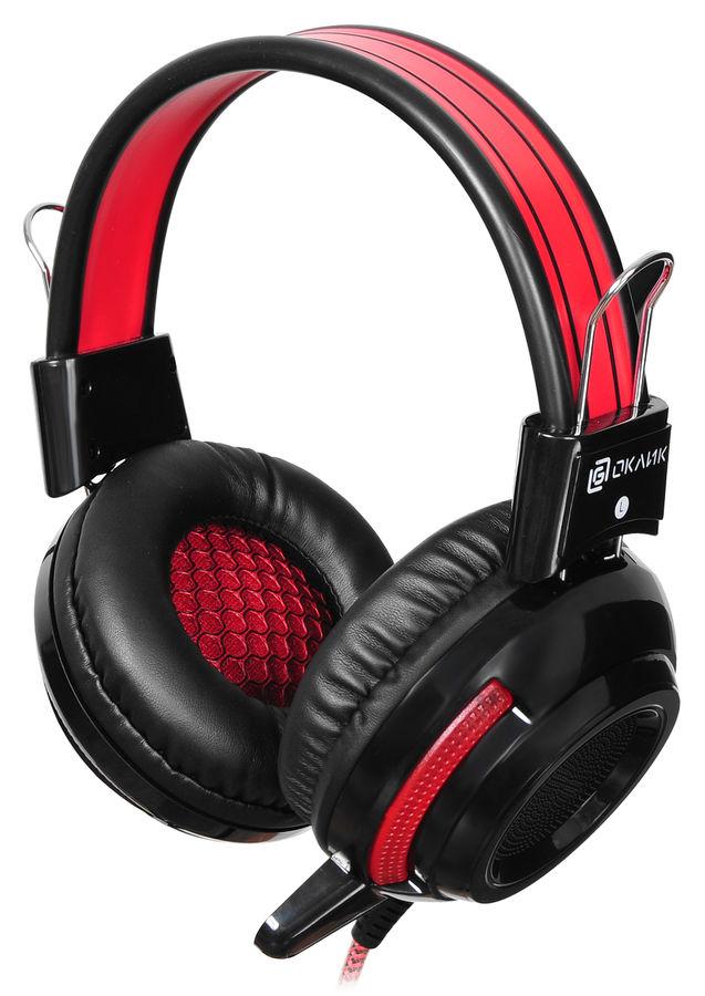 Наушники с микрофоном OKLICK HS-G300 ARMAGEDDON,  мониторы, черный  / красный [ah-v1]