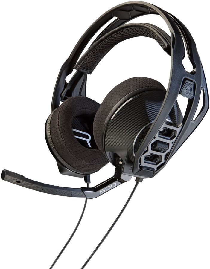 Наушники с микрофоном PLANTRONICS RIG 500HS,  мониторы, черный  [204806-05]