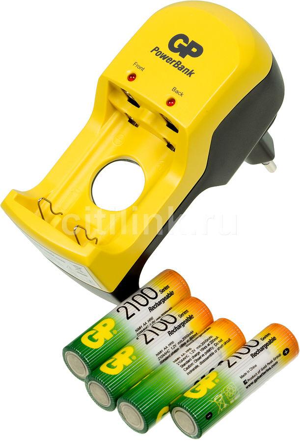 Аккумулятор + зарядное устройство GP PB350GS210 Minions,  4 шт. AA,  2100мAч