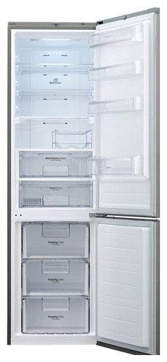 Холодильник LG GW-B489SMCL,  двухкамерный,  нержавеющая сталь