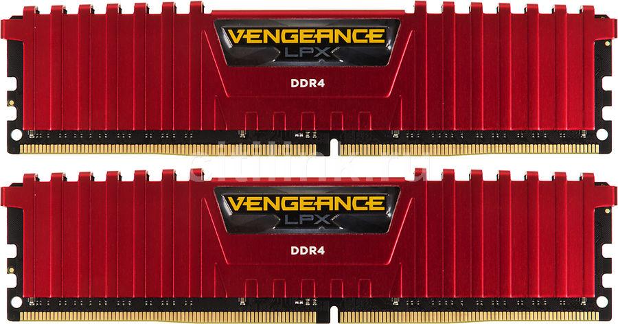 Модуль памяти CORSAIR Vengeance LPX CMK16GX4M2B3000C15R DDR4 -  2x 8Гб 3000, DIMM,  Ret