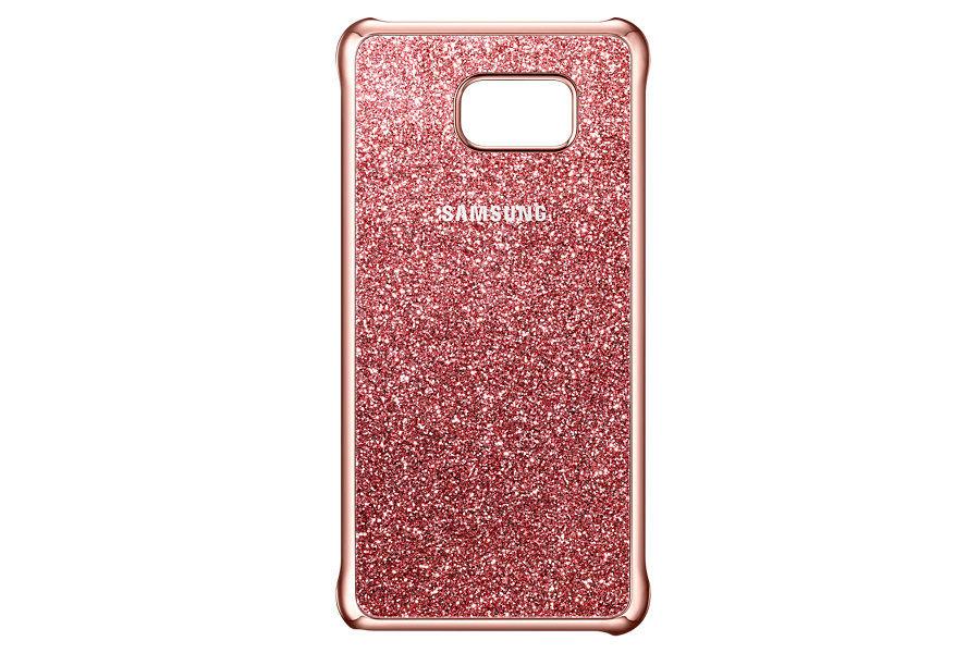Чехол (клип-кейс) SAMSUNG Glitter Cover, для Samsung Galaxy Note 5, розовый [ef-xn920cpegru]