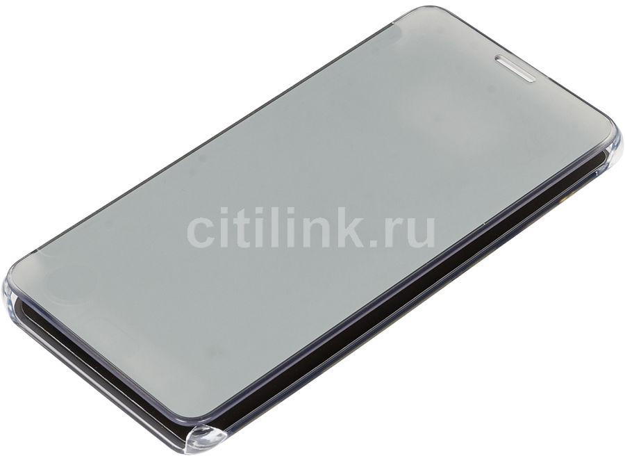 Чехол (флип-кейс) SAMSUNG Clear View Cover, для Samsung Galaxy Note 5, серебристый [ef-zn920csegru]