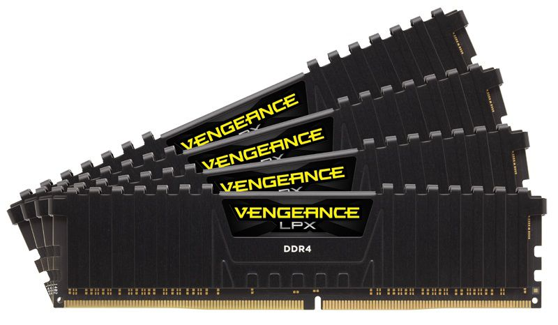 Модуль памяти CORSAIR Vengeance LPX CMK32GX4M4A2666C15 DDR4 -  4x 8Гб 2666, DIMM,  Ret