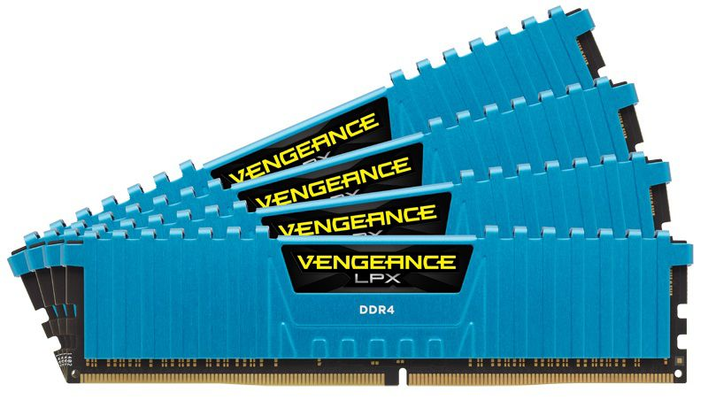 Модуль памяти CORSAIR Vengeance LPX CMK32GX4M4A2666C16B DDR4 -  4x 8Гб 2666, DIMM,  Ret