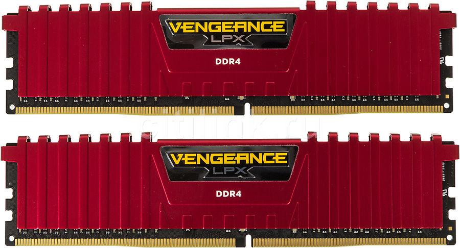 Модуль памяти CORSAIR Vengeance LPX CMK8GX4M2B3200C16R DDR4 -  2x 4Гб 3200, DIMM,  Ret