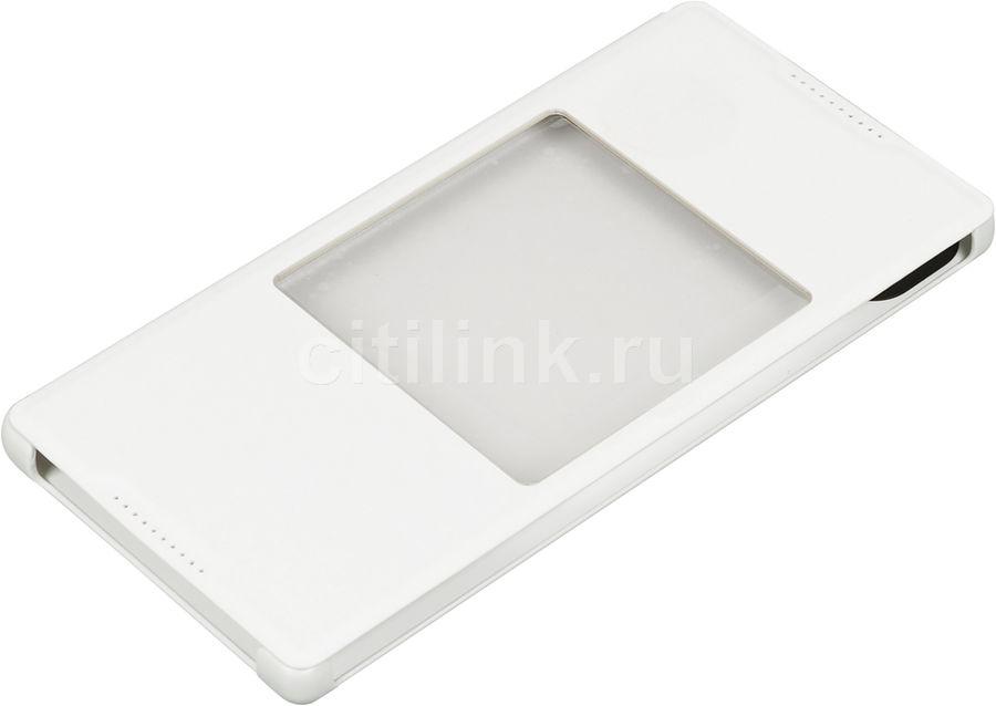 Чехол (флип-кейс) SONY SCR46, для Sony Xperia Z5 Premium, белый [scr46 white]