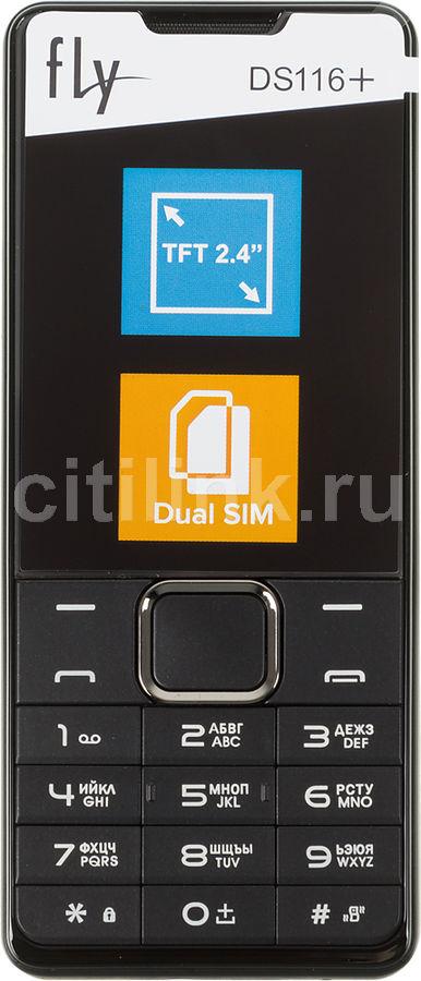 Мобильный телефон FLY DS116+  черный