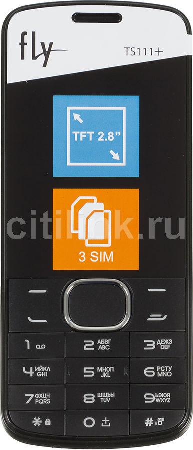 Мобильный телефон FLY TS111+,  черный