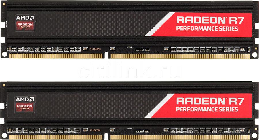Модуль памяти AMD Radeon R7 Performance Series R738G1869U1K DDR3 -  2x 4Гб 1866, DIMM,  Ret