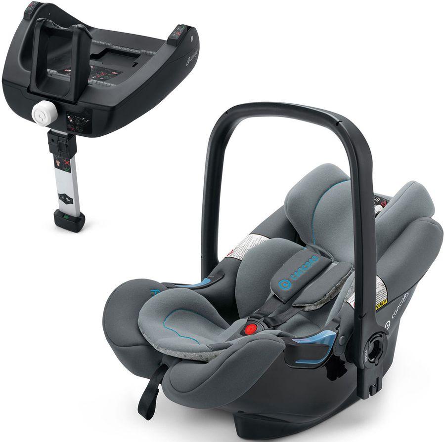 Автокресло детское CONCORD Air.Safe+Clip Stone Grey, 0/0+, серый [aic0962]