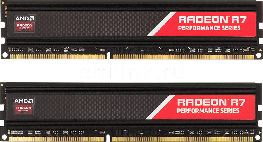 Модуль памяти AMD Radeon R7 Performance Series R7316G1869U2K DDR3 -  2x 8Гб 1866, DIMM,  Ret