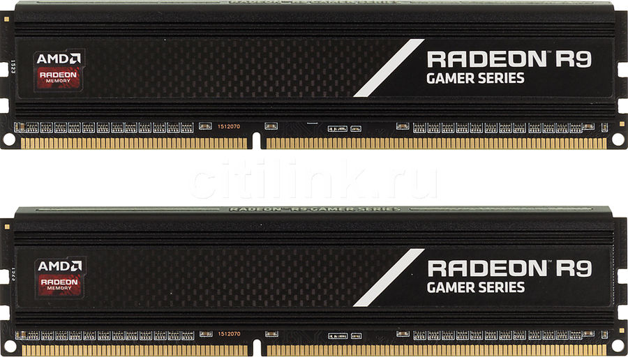 Модуль памяти AMD Radeon R9 Gamer Series R938G2401U1K DDR3 -  2x 4Гб 2400, DIMM,  Ret