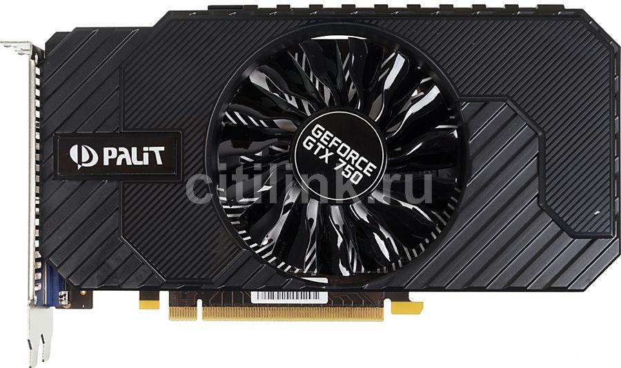 Видеокарта PALIT GeForce GTX 750,  PA-GTX750 StormX OC,  1Гб, GDDR5, OC,  Ret [ne5x750thd01-2065f]