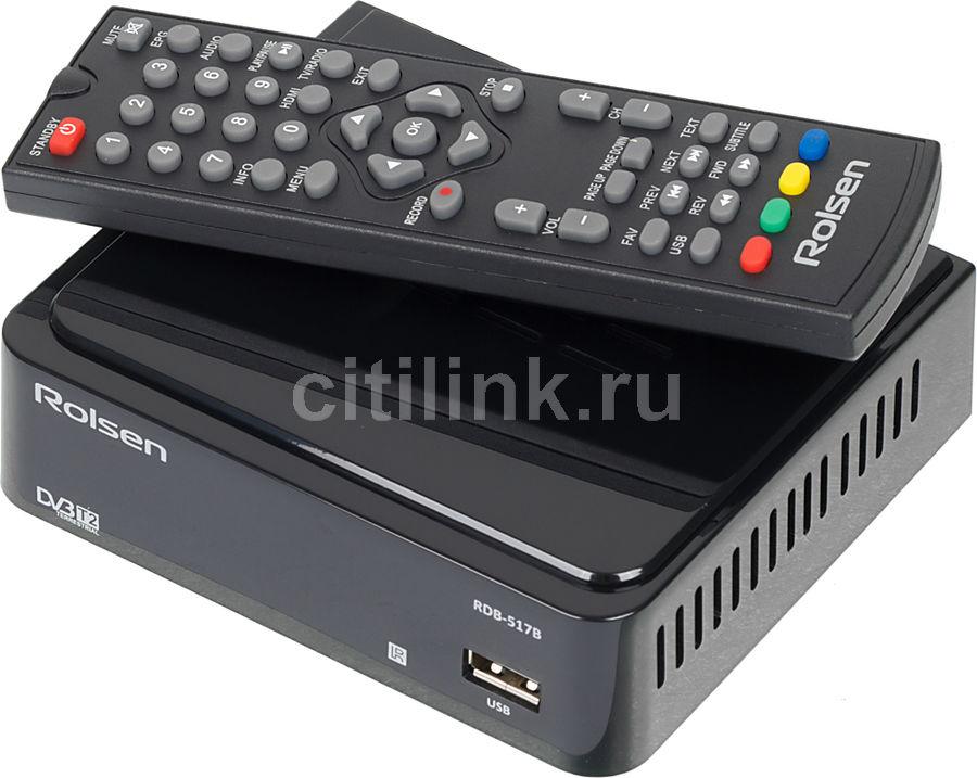 Ресивер DVB-T2 ROLSEN RDB-517B,  черный [1-rldb-rdb-517b]