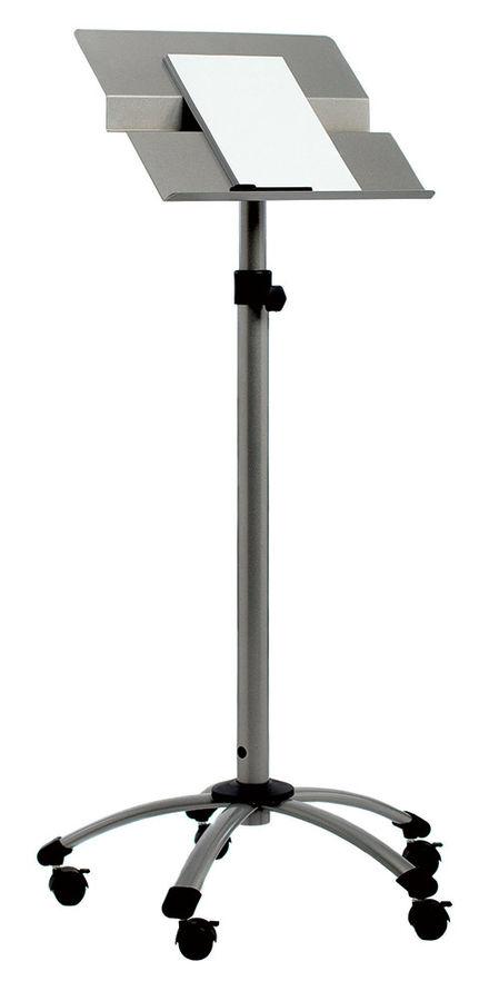 Пюпитр для выступлений Rocada Forum-ECO 3080 металл на роликах серебристый регулировка высоты