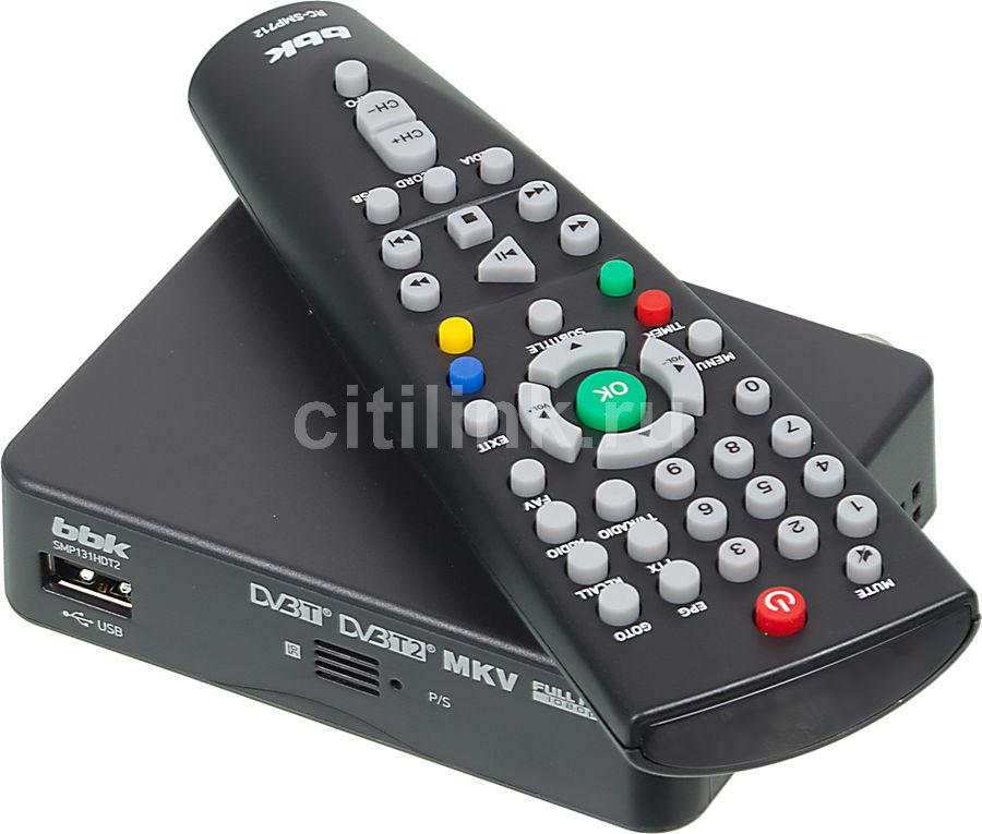 Ресивер DVB-T2 BBK SMP131HDT2,  темно-серый