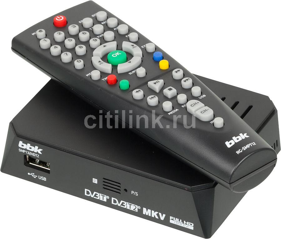 Ресивер DVB-T2 BBK SMP132HDT2,  черный