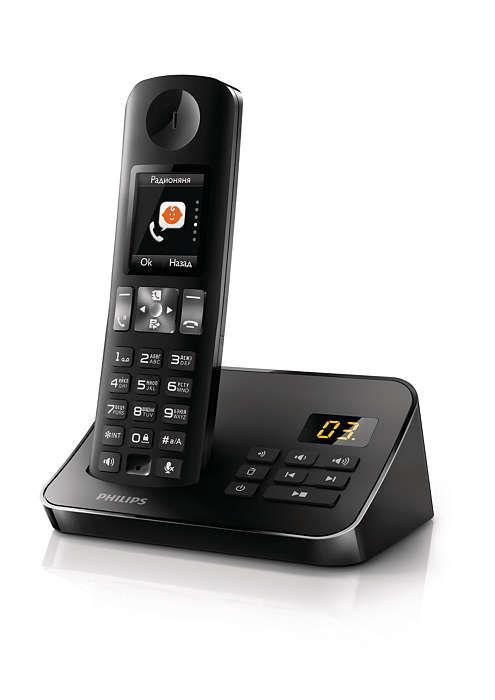 Радиотелефон PHILIPS D6051B/51,  черный