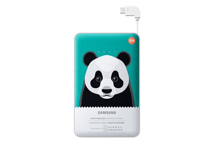 Внешний аккумулятор SAMSUNG EB-PN915 Green Panda,  11300мAч,  белый [eb-pn915bgrgru]