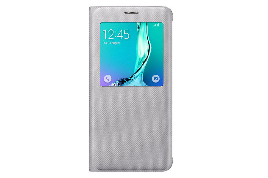 Чехол (флип-кейс) SAMSUNG S View G928, для Samsung Galaxy S6 Edge Plus, серебристый [ef-cg928psegru]