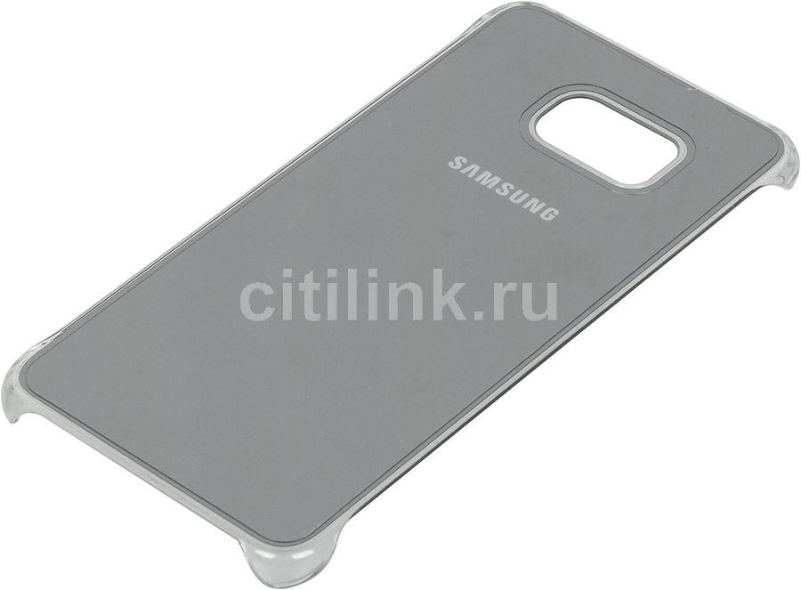 Чехол (клип-кейс) SAMSUNG Glossy Cover, для Samsung Galaxy S6 Edge Plus, серебристый [ef-qg928msegru]