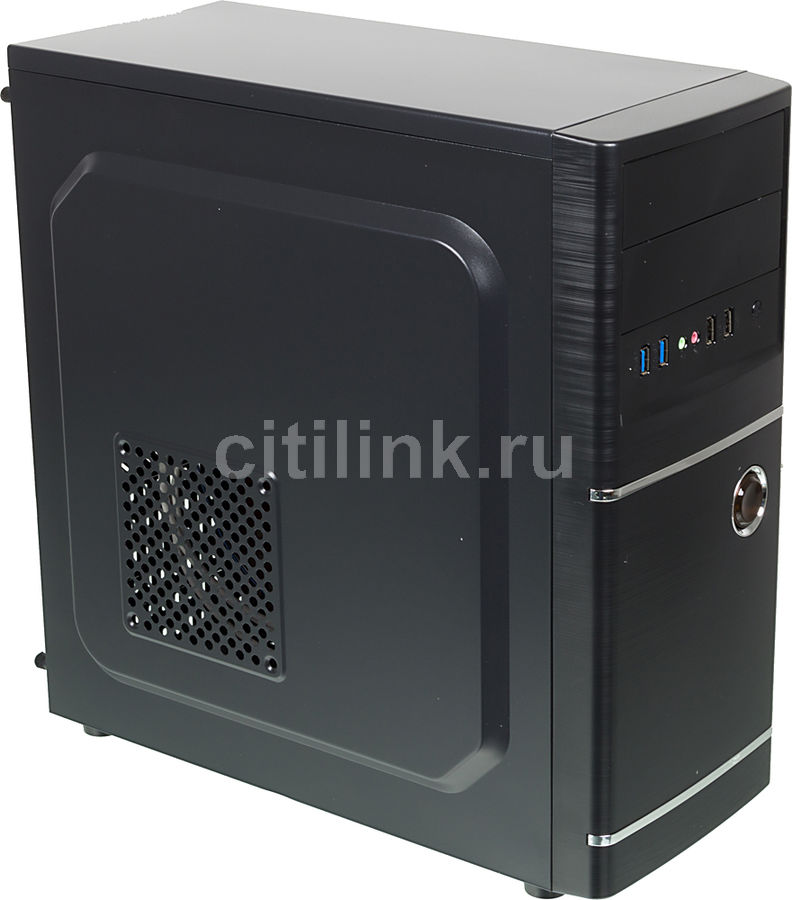Корпус ATX ACCORD ACC-B301, Midi-Tower, без БП, черный