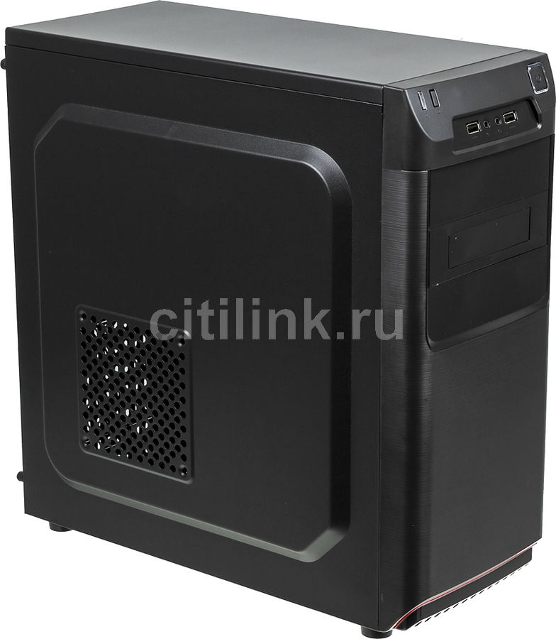 Корпус Accord ACC-B305 черный без БП ATX 3x120mm 2xUSB2.0 audio (плохая упаковка)