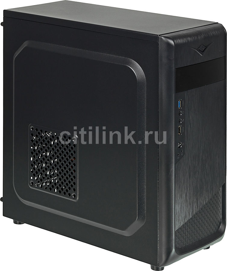 Корпус ATX ACCORD ACC-B307, Midi-Tower, без БП, черный корпус atx accord acc d50b без бп чёрный