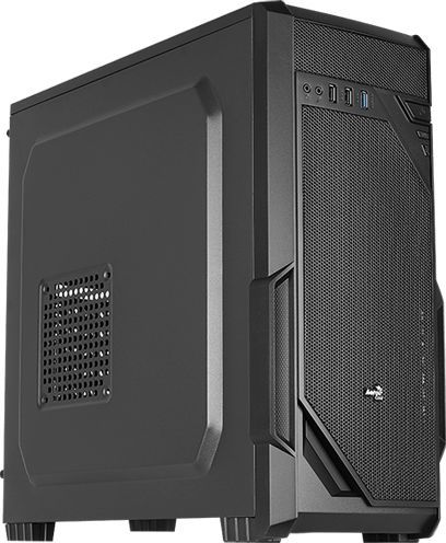 Корпус ATX AEROCOOL VS-1, Midi-Tower, без БП, черный