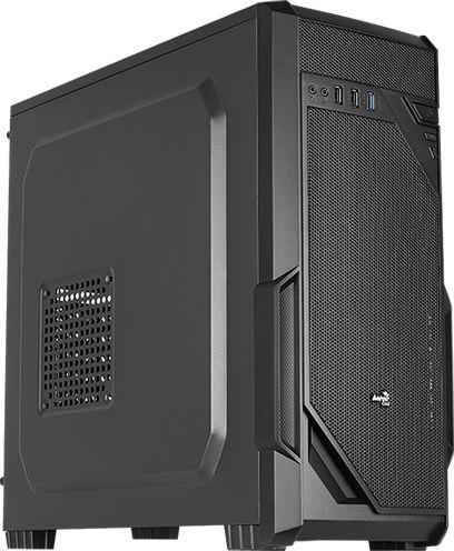 Корпус ATX AEROCOOL VS-1, Midi-Tower, без БП,  черный