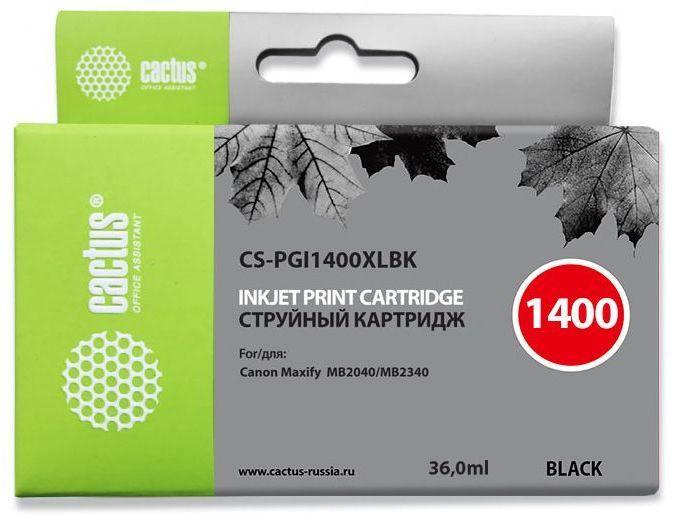 Картридж CACTUS CS-PGI1400XLBK черный