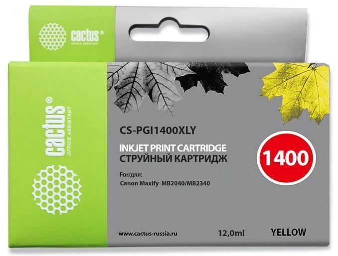 Картридж CACTUS CS-PGI1400XLY желтый