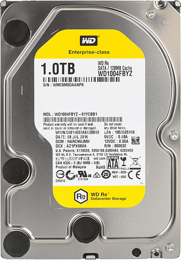 """Жесткий диск WD RE WD1004FBYZ,  1Тб,  HDD,  SATA III,  3.5"""""""