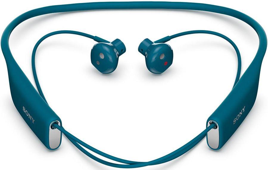 Гарнитура bluetooth  SONY SBH70RU/B,  стерео, голубой [sbh70 blue]