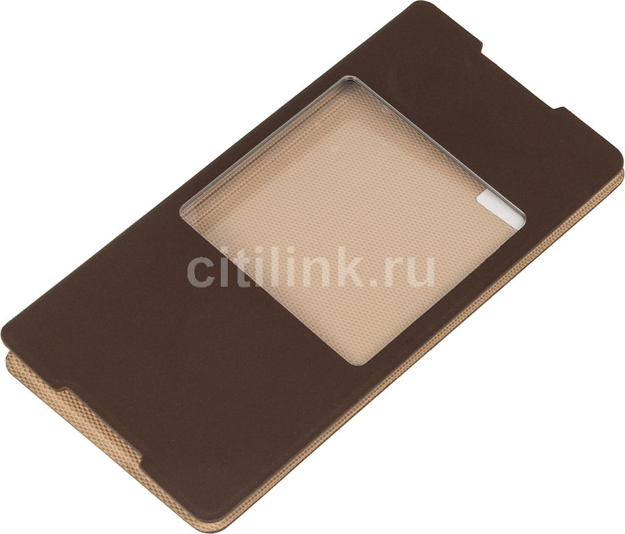 Чехол (флип-кейс) SONY SCR30, для Sony Xperia Z3+, коричневый [scr30 copper]