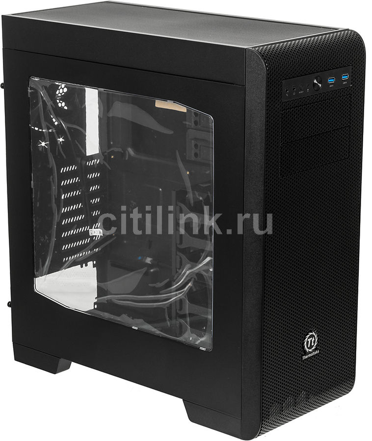Корпус ATX THERMALTAKE Core V41, Midi-Tower, без БП,  черный