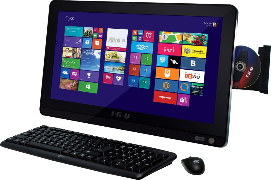 Моноблок IRU Office L1902, Intel Celeron N2940, 4Гб, 500Гб, Intel HD Graphics, DVD-RW, Windows 8.1, черный [339537]