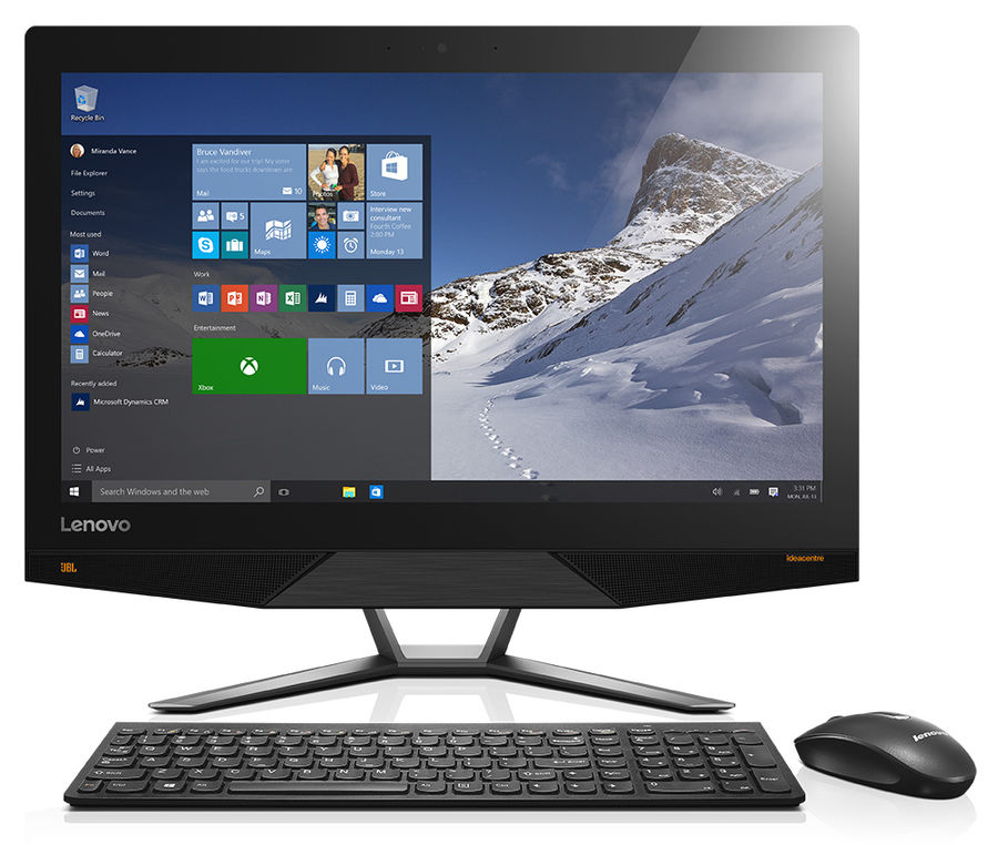 "Моноблок Lenovo 700-22ISH 21.5"" Full HD i3 6100T/4Gb/1Tb 7.2k/SSHD8Gb/GT930A 2Gb/DVDRW/W10/kb/m/черн [f0bf001prk]"