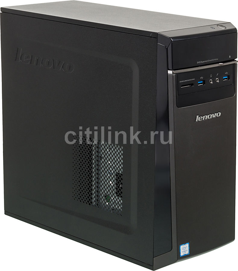 Компьютер  LENOVO IdeaCentre 300-20ISH,  Intel  Core i3  6100,  DDR4 4Гб, 1000Гб,  nVIDIA GeForce GT730 - 2048 Мб,  DVD-RW,  CR,  Windows 10,  черный [90da0065rs]