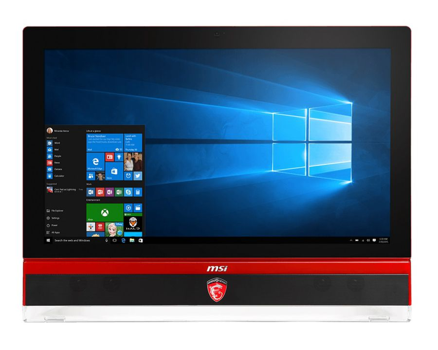 Моноблок MSI Gaming 27 6QD-009RU, Intel Core i5 6400, 8Гб, 1000Гб, 256Гб SSD,  nVIDIA GeForce GTX 970M - 6144 Мб, DVD-RW, Windows 10, черный и красный [9s6-af1c11-009]