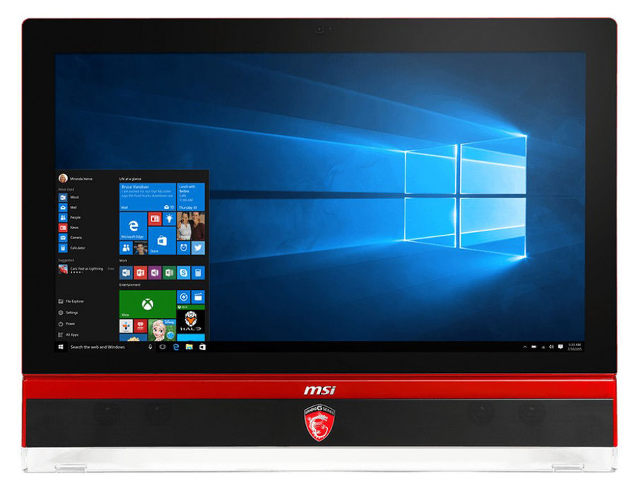 Моноблок MSI Gaming 27 6QD-010RU, Intel Core i7 6700, 8Гб, 1000Гб, nVIDIA GeForce GTX 970M - 6144 Мб, DVD-RW, Windows 10, черный и красный [9s6-af1c11-010]