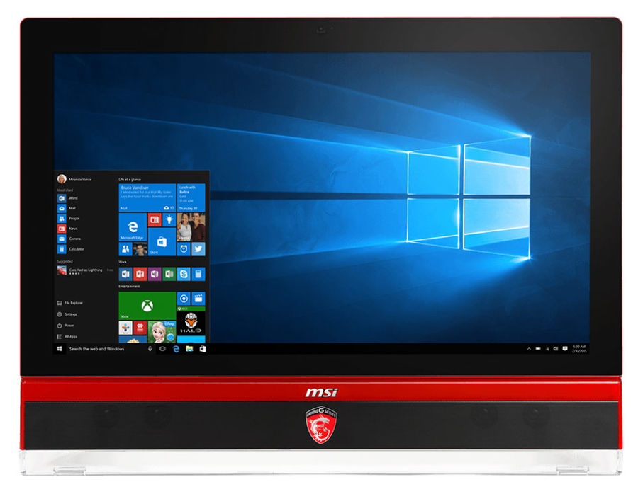 Моноблок MSI Gaming 27 6QE-003RU, Intel Core i7 6700, 8Гб, 1000Гб, nVIDIA GeForce GTX 980M - 8192 Мб, DVD-RW, Windows 10, черный и красный [9s6-af1c11-003]