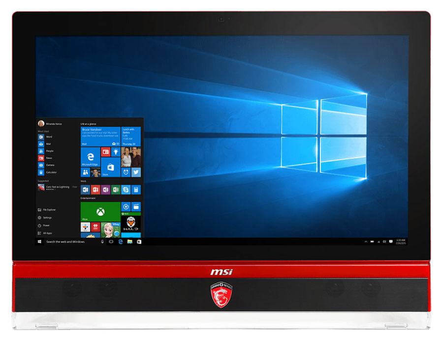 Моноблок MSI Gaming 27 6QE-004RU, Intel Core i7 6700, 8Гб, 1Тб, 256Гб SSD,  nVIDIA GeForce GTX 980M - 8192 Мб, DVD-RW, Windows 10, черный и красный [9s6-af1c11-004]