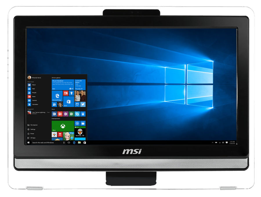 Моноблок MSI Pro 20ET 4BW-012RU, Intel Pentium N3700, 4Гб, 500Гб, Intel HD Graphics, DVD-RW, Free DOS, черный [9s6-aa8b11-012]