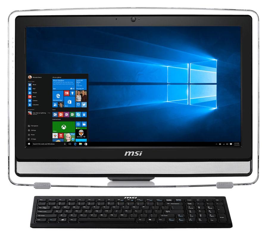 Моноблок MSI Pro 22ET 4BW-010RU, Intel Celeron N3150, 4Гб, 500Гб, Intel HD Graphics, DVD-RW, Free DOS, черный [9s6-ac1611-010]