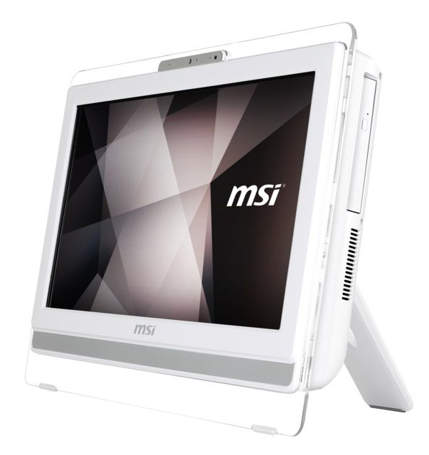 Моноблок MSI Pro 22ET 4BW-008RU, Intel Pentium N3700, 4Гб, 500Гб, Intel HD Graphics, DVD-RW, Free DOS, белый [9s6-ac1612-008]