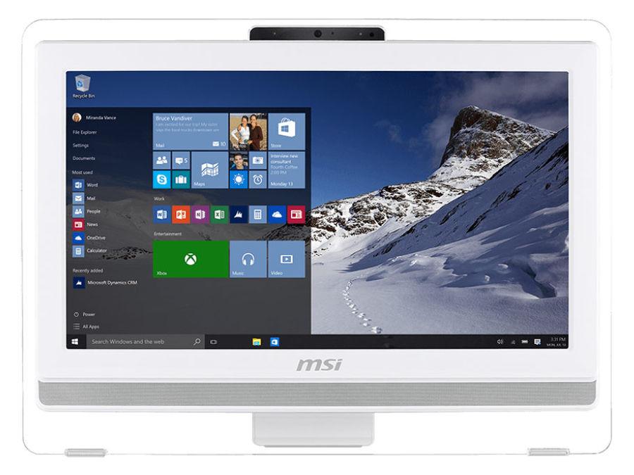 Моноблок MSI AE201T-093RU, Intel Pentium G3250, 4Гб, 500Гб, Intel HD Graphics, DVD-RW, Free DOS, белый [9s6-aa8212-093]