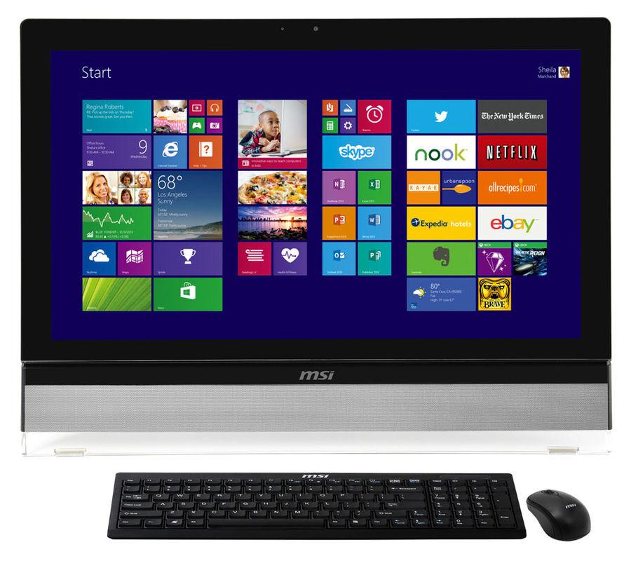 Моноблок MSI AE270T-046RU, Intel Core i3 4160, 8Гб, 1Тб, Intel HD Graphics 4400, DVD-RW, Windows 10, черный [9s6-af1611-046]
