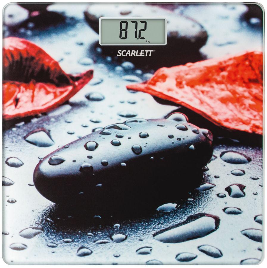 Весы SCARLETT SC-BS33E052, до 180кг, цвет: рисунок